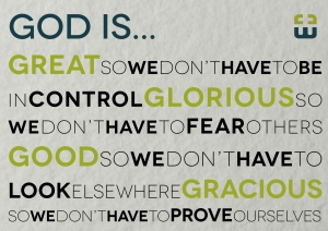 God is ..